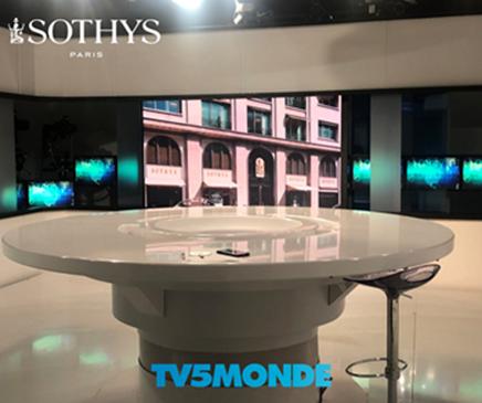 SOTHYS στο κανάλι<br>της γαλλικής τηλεόρασης TV 5 MONDE